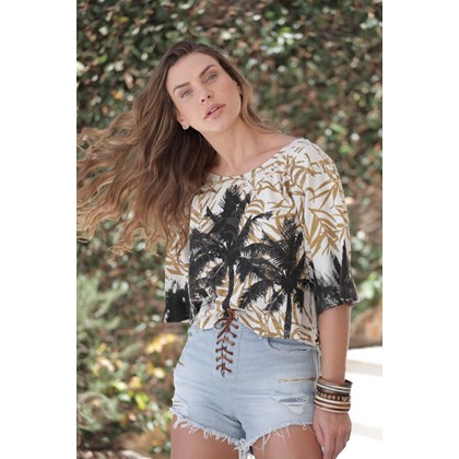 BLUSA AMPLA CROPPED