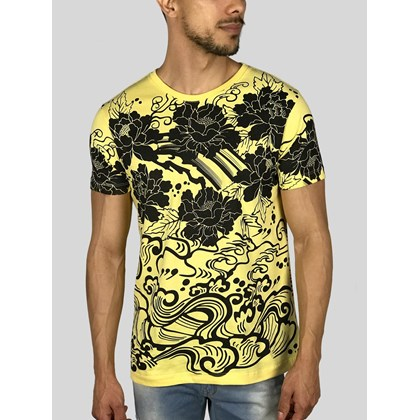 CAMISETA ART FLOWERS